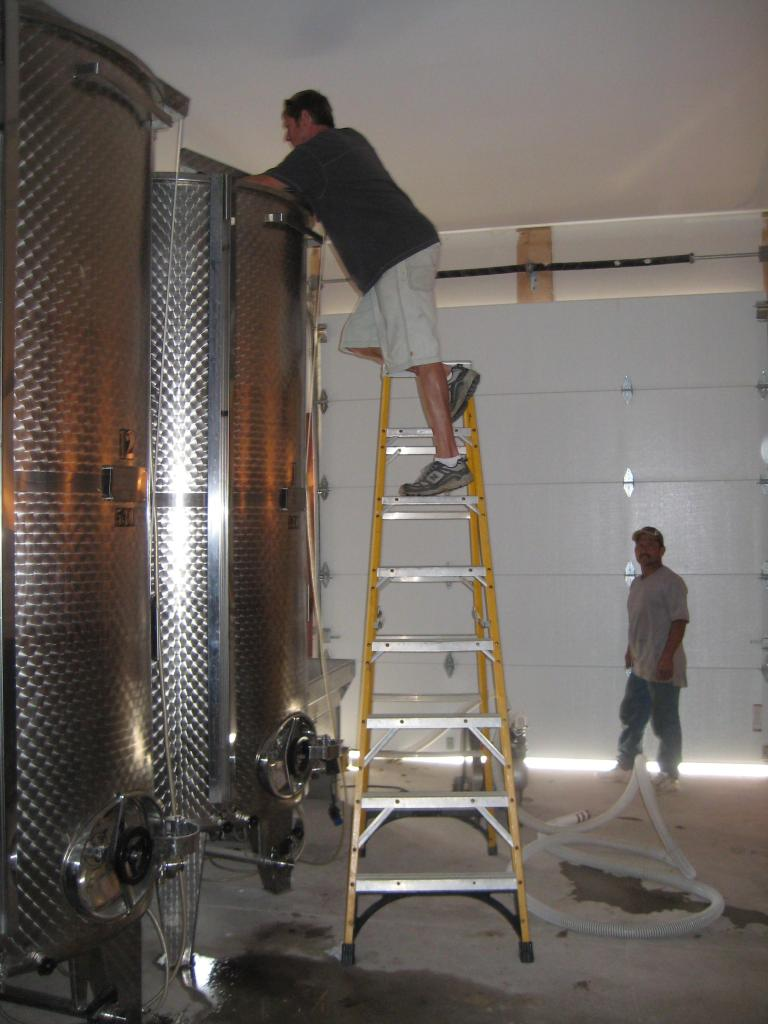 Todd Filtering the Chardonnay
