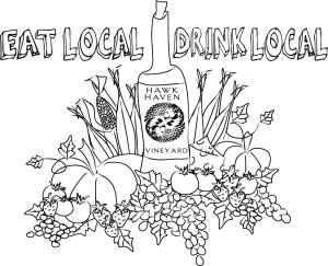Eat Local Drink Local Draft Art
