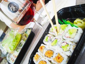 Try a blush wine with sushi!